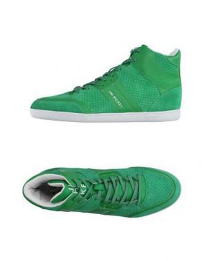 Высокие кеды и кроссовки JIM RICKEY. Цвет: зеленый
