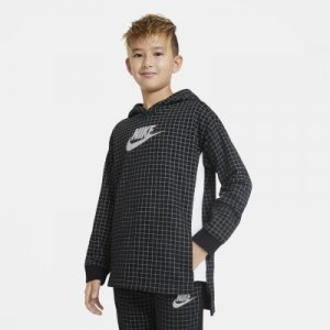 Флисовый пуловер для мальчиков школьного возраста Nike Sportswear - Черный