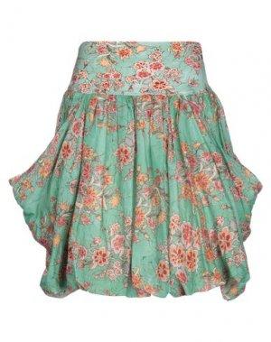 Мини-юбка EUROPEAN CULTURE. Цвет: светло-зеленый