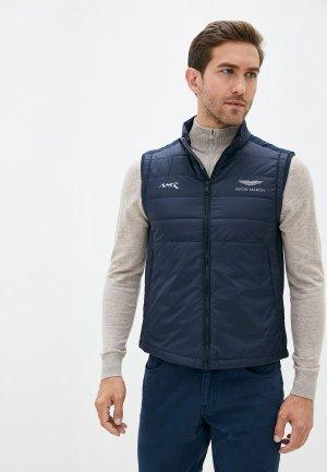 Жилет утепленный Aston Martin Racing by Hackett. Цвет: синий