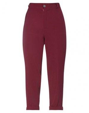 Укороченные брюки H2O ITALIA. Цвет: красно-коричневый
