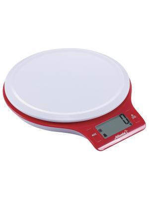Кухонные весы Atlanta. Цвет: белый, красный