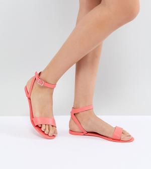 Силиконовые сандалии ASOS FELINA DESIGN. Цвет: оранжевый