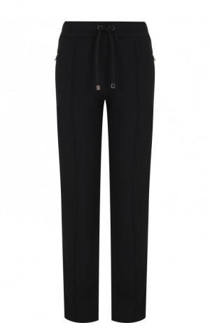Брюки прямого кроя с контрастными лампасами Dolce & Gabbana. Цвет: чёрный