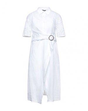 Платье длиной 3/4 FRACOMINA. Цвет: белый