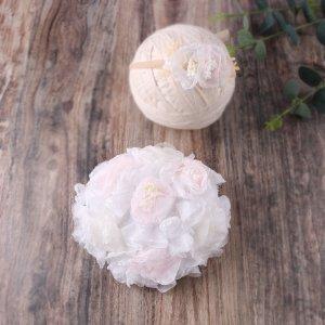 Наряд с цветком для фотографии новорожденных девочек SHEIN. Цвет: белый