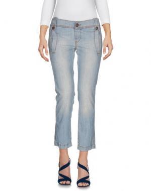 Джинсовые брюки-капри ICE J ICEBERG. Цвет: синий
