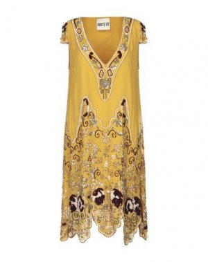 Платье до колена ANIYE BY. Цвет: охра