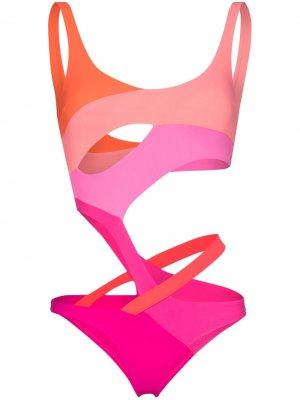 Купальник с вырезами Agent Provocateur. Цвет: розовый