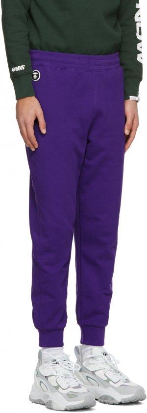 Purple Logo Lounge Pants AAPE by A Bathing Ape. Цвет: purple