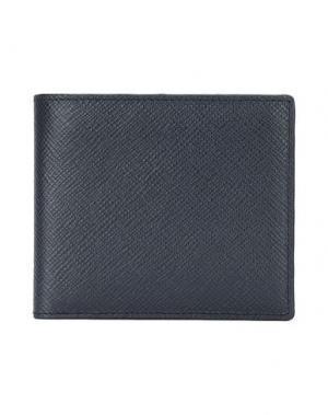Бумажник SMYTHSON. Цвет: темно-синий