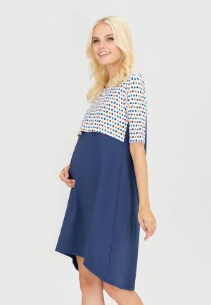 Платье домашнее Proud Mom. Цвет: синий