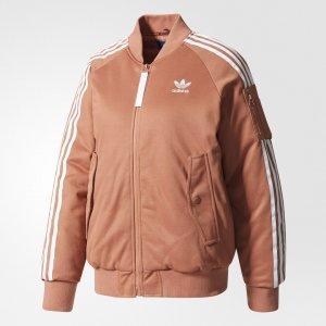 Куртка-бомбер Short Originals adidas. Цвет: розовый