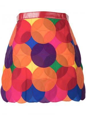 Юбка с аппликацией Junya Watanabe Comme Des Garçons Pre-Owned. Цвет: разноцветный