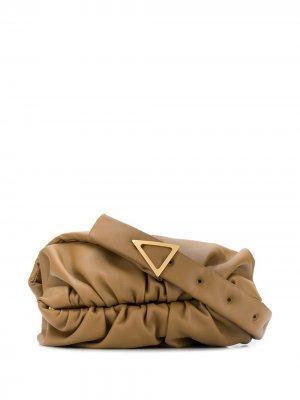 Сумка на плечо со сборками Bottega Veneta. Цвет: желтый