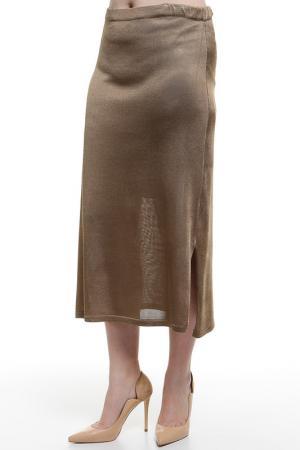 Юбка Daniela Drei. Цвет: коричневый