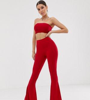 Красные расклешенные брюки -Красный Fashionkilla