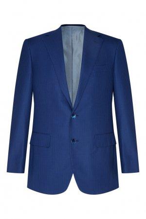 Голубой шерстяной костюм Stefano Ricci. Цвет: синий