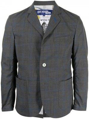 Пиджак в клетку Junya Watanabe MAN. Цвет: серый