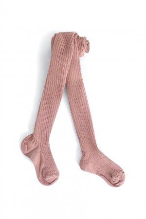 Светло-розовые хлопковые колготки Bonpoint. Цвет: розовый