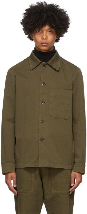 Khaki Cedrone Overshirt Barena. Цвет: 278 bistro