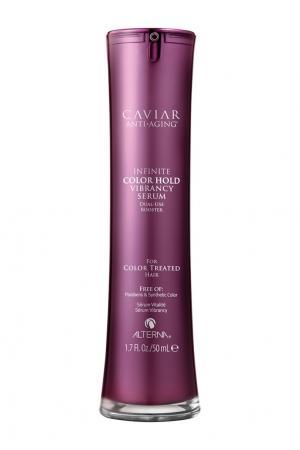 Сыворотка двойного действия для усиления яркости цвета Caviar Anti-Aging Infinite Color Hold Vibrancy Serum, 50 ml Alterna. Цвет: без цвета