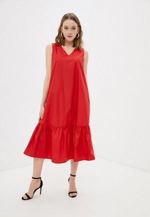 Платье Снежная Королева. Цвет: красный