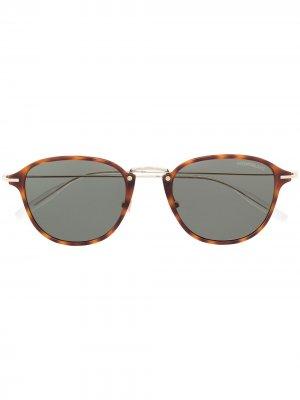 Солнцезащитные очки в D-образной оправе Montblanc. Цвет: коричневый
