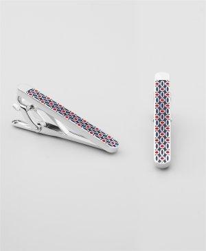 Зажим для галстука HENDERSON. Цвет: красный