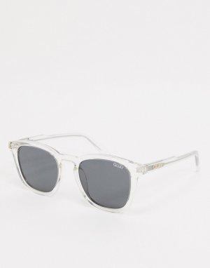 Мужские солнцезащитные очки в прозрачной оправе стиле ретро Quay Jackpot-Очистить Australia