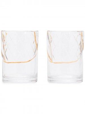 Комплект из двух стаканов Seletti. Цвет: золотистый