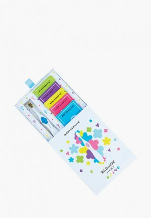 Набор подарочный Montcarotte Kids Dental Set Assorti Purple (6 предметов) Голубой Ассорти. Цвет: голубой