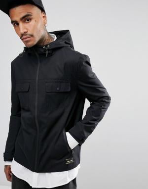 Черная куртка с капюшоном Gio Goi. Цвет: черный