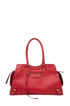 Красная кожаная сумка Neo Classic Balenciaga. Цвет: красный