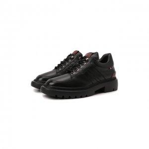 Кожаные ботинки Valnis Bally. Цвет: чёрный