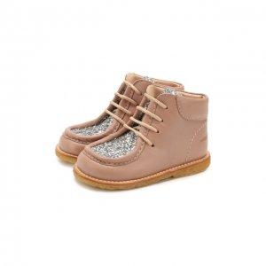 Кожаные ботинки Angulus. Цвет: розовый
