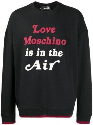 Толстовка с принтом Love Moschino