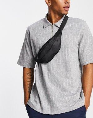 Черная сумка-кошелек на пояс -Черный цвет New Look