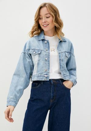 Куртка джинсовая Pepe Jeans VOLT FLOW. Цвет: голубой
