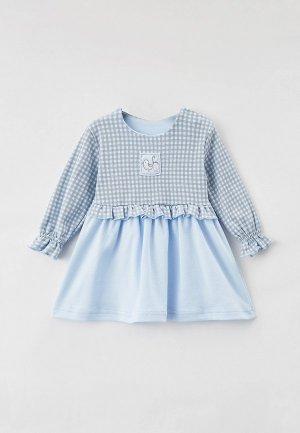 Платье Leo. Цвет: голубой