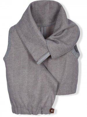 TEEN chevron-knit asymmetric vest Lapin House. Цвет: серый