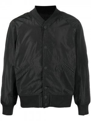 Бомбер с вышивкой KTZ. Цвет: черный