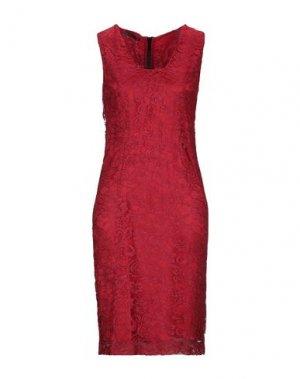 Короткое платье BOTONDI MILANO. Цвет: красный