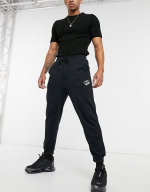 Черные джоггеры с маленьким логотипом -Черный Hummel