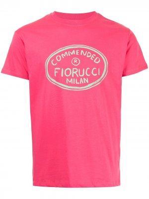 Футболка кроя слим с логотипом Fiorucci. Цвет: розовый