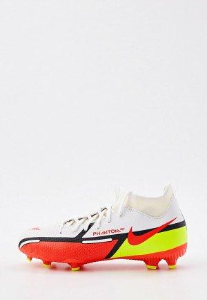 Бутсы Nike JR PHANTOM GT2 ACADEMY DF FGMG. Цвет: белый