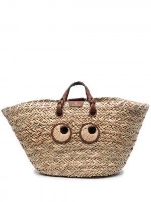 Объемная сумка-тоут Anya Hindmarch. Цвет: нейтральные цвета