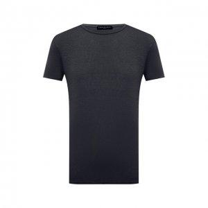 Льняная футболка Daniele Fiesoli. Цвет: серый