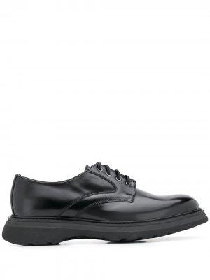 Doucals туфли дерби на шнуровке Doucal's. Цвет: черный