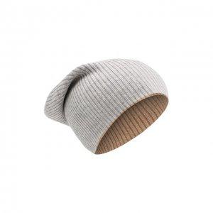 Кашемировая шапка Brunello Cucinelli. Цвет: серый